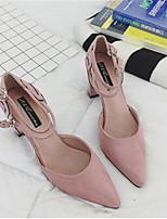Черный Розовый-Для женщин-Повседневный-ПолиуретанУдобная обувь-Обувь на каблуках