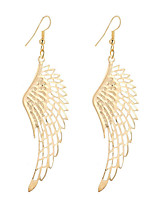 Fashion Vintage Simple Plated Gold/Silver Hollow Wing Earrings For Women Dangle Long Drop Earrings Jewelry Accessories Bijouterie