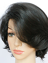 Synthetic Wigs Black Short Capless Wigs 24 CM Heat Resistant Fiber Female