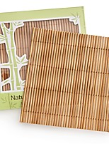 Natural Bamboo Coaster Set Wedding Party Favor (4pcs/box) 10 x 10 cm/pcs Beter Gifts® Recipient Gifts