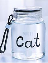 300 мл мультфильм портативные стеклянные бутылки сока воды