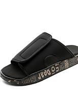 Men's Slippers & Flip-Flops Summer Light Soles Synthetic Casual Split Joint Black/White Red Black/Gold Walking