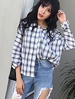 Damen Solide Verziert Retro Street Schick Ausgehen Urlaub Hemd,V-Ausschnitt Frühling Sommer Langarm Leinen Dünn