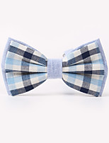 The Fashion Leisure Clothing Accessories CB01904 Cotton Men's Plaid Bow Tie