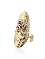 Ring Flower Style Euramerican Rhinestone Zinc Alloy Jewelry For Wedding Party Special Occasion 1pc