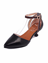 Femme Sandales club de Chaussures Polyuréthane Printemps Eté Décontracté Habillé club de Chaussures Boucle Kitten Heel Noir Beige Vert5 à
