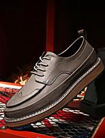 Männer Stiefel formale Schuhe Kunstleder Hochzeit Büro&Karriere grau schwarz