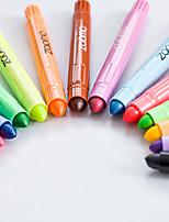 Pastels Stylo Crayons Stylo Baril Rouge Noir Bleu Jaune Violet Orange Vert Couleurs d'encre For Fournitures scolairesFournitures de