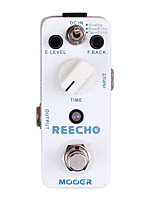 Mooer Reecho Digital Delay Guitar Effect Pedal 3 Delay Modes Analog/Real Echo/Tape Echo Full Metal Shell True Bypass