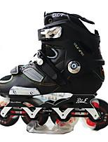Damen Herrn Unisex Inline-Skates tragbar Wasserdicht Komfortabel Schwarz