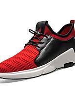 Черный Серый Красный-Для мужчин-Повседневный-Тюль-На плоской подошве-Светодиодные подошвы-Спортивная обувь