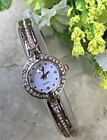 Damen Armband-Uhr Simultan? Diamant Uhr Chinesisch Quartz / Imitation Diamant Legierung Band Bequem Rotgold
