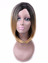 Fashion Sexy Women Straight Hair Short Wigs Black To Blonde Color Cosplay Synthetic Wigs