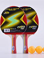 2 étoiles Ping Pang/Tennis de table Raquettes Ping Pang Bois Long Manche Boutons