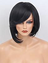 Специальный боб натуральный волна блондинка capless человеческих волос парик с боковой челкой для женщин 2017