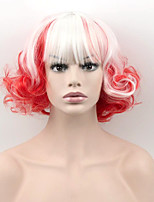 Hot Selling White To Red Ombre Color Synthetic Cosplay Wigs For Women Party Wigs