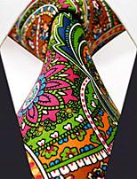 U31  New Men's Neckties Green Multicolor Floral 100% Silk Business Jacquard Woven Handmade Dress