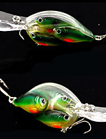 2 pcs Crank Fishing Lures Hard Bait yellow shad glass green g/Ounce,100 mm/4