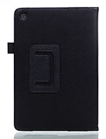 Para capa de caso com suporte flip caixa de corpo inteiro cor sólida couro suave para asus zenpad 7.0 z370c / kl