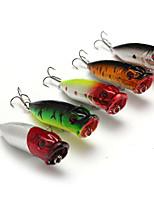 5 pcs Hard Bait Popper Fishing Lures Hard Bait Popper Lure Packs phantom Multicolored g/Ounce mm/2-3/4