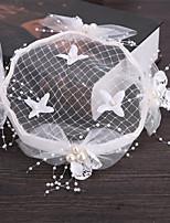 Tyl Imitace perly Síť Přílba-Svatba Zvláštní příležitost Outdoor Květiny Klobouky Vlásenka Jeden díl