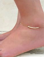 Feminino Bijuteria de Corpo Corrente para Perna Estilo Boêmio Confeccionada à Mão Liga Dourado Prata Jóias ParaCasamento Ocasião Especial