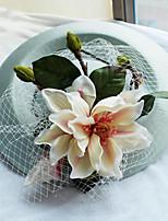 Látka Síť Přílba-Svatba Zvláštní příležitost Neformální Outdoor Klobouky Jeden díl