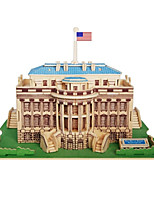 Пазлы 3D пазлы Строительные блоки Игрушки своими руками Знаменитое здание Китайская архитектура Дерево Хобби и досуг