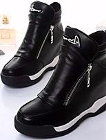 Women's Sneakers Spring Comfort PU Casual Flat Heel Black White