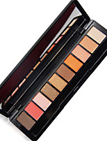 NOVO 10 Eyeshadow Palette Pumpkin Shimmer Eyeshadow With Brush