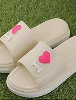 Women's Slippers & Flip-Flops Summer Slingback Rubber Casual Flat Heel Fuchsia Black White
