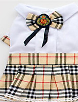 Dog Dress Dog Clothes Spring/Fall Plaid/Check Casual/Daily