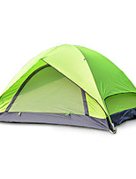 2 persons Tent Double Fold Tent One Room Camping Tent Fiberglass Oxford Waterproof Portable-Hiking Camping-Green