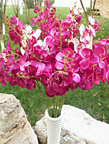 1PC 9 Heads Flower Branch Polyester Azalea Tabletop Flower Artificial Flowers