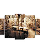 Canvas Print Landscape TraditionalFive Panels Canvas Horizontal Print Wall Decor For Home Decoration