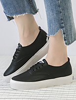 Women's Sneakers Spring Summer Creepers Leatherette Casual Creepers White/Green White/Purple Black
