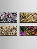Abstrato Clássico Estilo Europeu,1 Painel Tela Horizontal Impressão artística Decoração de Parede For Decoração para casa