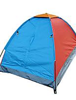 1 person Tent Single Fold Tent Two Rooms Camping Tent 1000-1500 mm Fiberglass OxfordMoistureproof/Moisture Permeability Waterproof