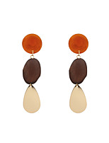 Fashion Women    Oval Shaped   Acrylic Drop Earrings