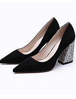 Women's Heels Summer Slingback PU Casual Brown Black
