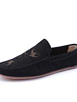 Черный Бежевый Серый-Для мужчин-Повседневный-ПолиуретанУдобная обувь Мокасины-Мокасины и Свитер