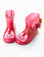 Boys' Sandals Transparent Shoe Rubber Spring Fall Outdoor Casual Walking Rain Boots Magic Tape Low Heel Red White/Silver Light Green Flat