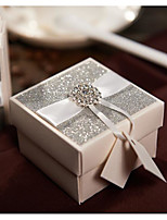 50 Luxury Glitter Wedding Candy Box With Rhinestone Buckle Gift Package Box For Birthday Party Favors CB501