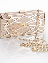 L.WEST Woman Fashion Hollow Out Metal Mesh Geometry Evening Bag