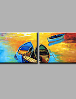 Hand-Painted Abstract Modern Two Panels Canvas Oil Painting  For Home Decoration