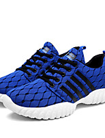 Men's Sneakers Spring Summer Comfort Light Soles Tulle Outdoor Athletic Casual Flat Heel Lace-up Running Shoes
