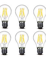® Shenmeile 4.5W E27 LED Filament Bulbs A60(A19) 6 COB 500 lm Warm White Decorative AC220 AC230 AC240 V 6 pcs