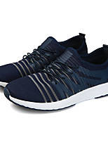 Men's Sneakers Spring Fall Comfort Tulle Casual Lace-up Gray Dark Blue Black