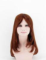 Japão e Coreia do Sul modelos de moda cabelos longos gradiente marrom misturado natural canção de alta temperatura fio peruca
