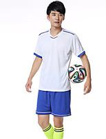 Муж. Футбол Спортивный костюм Дышащий Удобный Лето Спорт Терилен Футбол Белый Желтый Синий